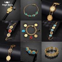 Link, kette nie verblasst blau böse augen kristall charme armbänder für islam frauen muslim schmuck türkisches armband gold color1