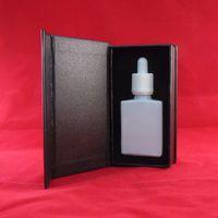 Özel logo 30 ml titrek beyaz kare cam kozmetik serum damlalık şişesi özel lüks dikdörtgen dış hediye manyetik kutu 40 gün ücretsiz gemi