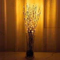 20LEDS LED Willow Filial Lâmpada Luzes Galhos Ramos Corda Luz Bateria Alimentado Casa Festa Café Café Loja Decoração de Natal Lâmpada 60pcs T1i3040