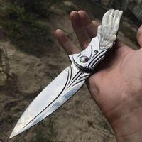 Le nouveau couteau pliant Sandvik a une lame en acier de haute qualité avec une conception de ligne élégante, adaptée à la survie en plein air, au camping, à la pêche, à la randonnée