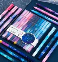 12 قطع لطيف الأقلام kawaii القلم لطيف كوكبة القلم 0.5 ملليمتر جل الأقلام أسود الكرة نقطة الأقلام للمدرسة مكتب اللوازم