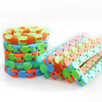XMY Children Wacky Tracks Snap and Click Fidget Toys DIY Kids Autism Snake Puzzles Sensory Educational Decompression Toy