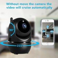 Siyah Akıllı Ev Güvenlik Gözetleme 1080 P Bulut IP Kamera Oto Izleme Ağı WIFI Kamera Kablosuz CCTV YCC365 Plus1