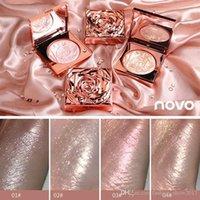 2021 Best Highlighter Facial Rose Palette Kit de maquillaje Cara Contorno Shimmer Powder Base Base Iluminador Resaltar Cosméticos de larga duración