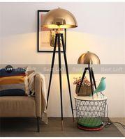Postmodern Tasarımcı Zemin Lambası Metal Galvanik Mantar Kafası Ev Decco Oturma Odası Yatak Odası Yatak Odası Başucu Lambası Için Ayakta Lambaları 90-265 V