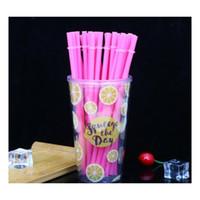 Одноразовые соломинки 260 * 6 мм творческий DIY пластиковая вечеринка, питьевые соломинки 10,5 дюймовых многоразовых соломинок для высоких тощих Jllokg Mexyard