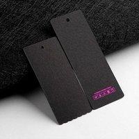 300gsm Carta verniciata Tag personalizzato Tag Prezzo Tag personalizzato Hang Tag con logo Stampato Swing Abbigliamento Etichetta personalizzata