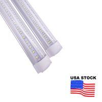 V 형 냉각기 도어 LED 튜브 T8 통합 LED 튜브 양면 조명 2FT 3FT 4FT 5FT 6FT 8 피트 주식