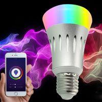 Nouveau WiFi LED Lumière Ampoule Dimmer E27 Éclairage intelligent Couleur Changement de couleur AVEC SMART HOME WiFi Light Bulbe Travaux avec Alexa Voice Control