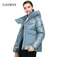 GASMAN Brand autumn winter fashion Women parka down jacket hooded patchwork thick coat Female warm clothes puffer jacket new 001 201119