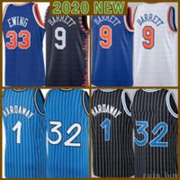 2021 New Shaquille Basketball Jersey 32 Mens Penny 1 Mesh Hardaway Tracy 1 McGrady Retro RJ 9 Barrett pas cher Patrick 33 Ewing Orange