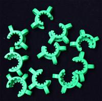 DHL 14mm 19mm Gelenk Nektar Kollektor Kunststoff Keck Clips Laborlabor Klemme Bong Clip für Glas Dropdown Adapter Mini Glasrohr