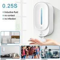 Accessoire de bain Set non-contact Distributeur automatique des mains Distributeur mural Gel de savon mural / pour 350 ml J8I7