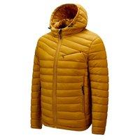 Darphinkaşa Kış Rahat Katı Renk Kapüşonlu Parka Ceket Kalın Sıcak Erkekler Ceket 201119