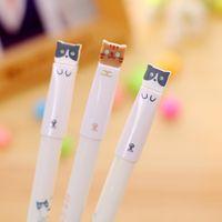 3 pezzi / set cartoon gatto gel penna 0.38mm penna inchiostro nero per bambini regalo ufficio cancelleria kawaii materiale scolastico