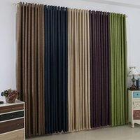 Cortinas cortinas tamaño personalizado listo color sólido de color sólido simple ventana apagón verde para sala de estar sombreado ropa de cama de ropa de cama