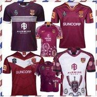 2019 National Rugby League Queensland 2018 Qld Maroons Malou 럭비 저지 2019 Qld Maroons 원산지 럭비 유니폼