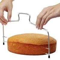 Одиночная двойная линия Slicer Нержавеющая сталь Прочный регулируемый резак для резцы торта, острый инструмент для выпечки хлебные резцы нового приезда 2 8JX4 F2