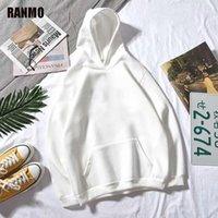 Ranmo Men Hoodies 캐주얼 하라주쿠 가을 단단한 긴 소매 느슨한 한국어 힙합 후드 스웨터 스웨터 스트리트웨어 풀오버 탑스 맨 1
