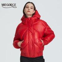 Miegofce 2020 Neue Design Wintermantel Damenjacke Isolierte Kürzung Taille Länge mit Taschen Lässige Parka Stehkragen Kapuze1