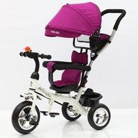 Poussettes # enfant de poussette de tricycle pliant trois roues vélo siège rotatif bébé voiture voiture convertible gonflage wheels1 wheels1