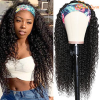 Water Wave Headband Wig Maxine Wet and Wavy Scarf Wig for Wo...