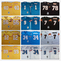 Vintage Warren Sapp Earl Campbell Steve McNair Warren Lua Mike Altott Hardy Nickeron Boomer Esiason Anthony Munoz Retro Football Jerseys