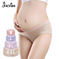 3 stycken / uppsättning bomullsgraviditet moderskap kvinnor underkläder U-formade låg midja gravid underkläder Briefs Lady Maternity Panties1