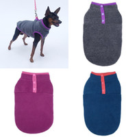 Animaux Pollets Vest d'hiver Chiens Poodle Tactic Pullover Vêtements Bouton Snap Snap Pull Couleur Solide Fashion Manches 6 7ly G2