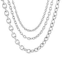 4/6/8 mm bricolage en acier inoxydable Rolo Chain Link Collier en vrac Chaîne Acero Inoxidable Acier Inoxydable Cadena gros