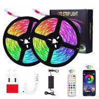 LEDストリップライト32.8フィートの防水300 LEDの柔軟なストリップの色変更音楽同期RGBロープライトリモコン