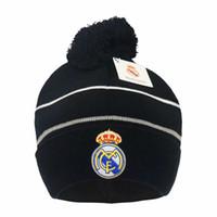 Nuovo autunno inverno calcio Fans Caps Calcio cappello regalo per Real Madrid Messi Manchester Cap Sport Formazione sportiva Berretti di calcio Copricapo