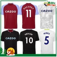 20 21 Aston Soccer Jersey Mingy McGleish McGinn Watkins Wesley Hogan Villa Away 3ème 2020 2021 Shirt de football