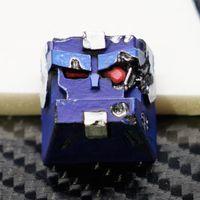 معركة أضرار BB تصميم الراتنج الأزرق كيسكافين ل الكرز mx التبديل الميكانيكية الألعاب لوحة المفاتيح اليدوية 3d الخلفية مفتاح كابس 1