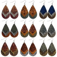 Леопардовые серьги для печати Multi Stookle Douncle Flash Powder капля кожаные блестки блестящие ухо модные подвески 3 8CY K2