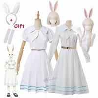 Anime Beastars Haru Cosplay Kostüm Uniform Weißes Tier Nette Kawaii Kleid und Perücke für Frauen Mädchen1