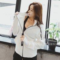 Nuova personalizzato nastro zip con cappuccio giacca sportiva per il tempo libero maglione in esecuzione di fitness Pullover autunno e in inverno le donne