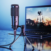 المعادن usb المكثف تسجيل ميكروفون الألعاب لأجهزة الكمبيوتر المحمول ويندوز cardioid استوديو تسجيل غناء صوت سكايب الدردشة podcast