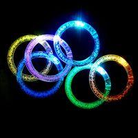 Blinking incandescente LED Lampeggiante Braccialetto Braccialetto Light Up Crystal Bracelet Party Discoteca Natale 0601789