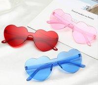 Mode herzförmige Klare Gelee farbige Sonnenbrille Unisex Pfirsich Herzen Schatten Gläser Transparente Eyewear Frauen Designer Schmuck Zubehör