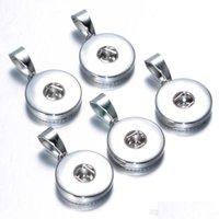 Moda Charm 30 adet / grup Altın Gümüş Snap Düğmesi Metal Noosa 12mm 18mm Zencefil Yapış Takı Fit Kadın Erkek Hediye M6MJK