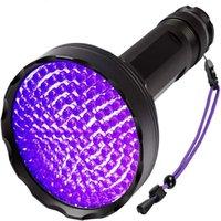 Nuovo arrivo 128LLED 395NM UV LED torcia elettrica nera luce professionale professionale ultravioletto pet orina detector di money blacklight scorpioni lampada