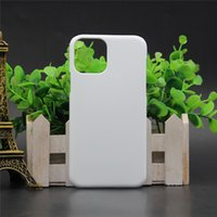 DIY 3D Sublimation Case para iPhone 12 Mini Pro Max Área máxima Calor Impresso Branco Lustroso Tampa lisa para Samsung S10 S20 Plus Ultra Note 10