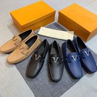 Hohe Qualität Männer Kleid Schuhe Beiläufige Wohnungen Boden Müßiggänger Mode Luxus Metallknopf Erbsen Schuhe Klassische Fahrschuhe für Männer