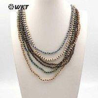 Chaînes WT-N1114 WKT Arrivée Crystal Naturel Collier long Collier long Couleur La longueur en option peut être personnalisée faire un collier de haute qualité1