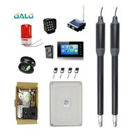 Fingerprint Access Control 220V To 24V Electric Automatic Dual Arm Swing Gate Opener Up 660 Lbs Hardware Driveway Door KIT