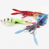 15 см 60г светящиеся рыбалка мягкий кальмар приманки осьминог морской рыбалка Wobbler Bait Squid Jigs рыболовные приманки силиконовые приманки