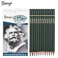 Bianyo Kroki Standart Kalem 12 / Kutu Için Basit Kalem Kömür Çizim için Profesyonel Sanatçı Araçları Ofis Kalemler Setleri Iyi GFIT T200107