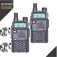 2 pcs baofeng uv-5r walkie talkie vhf uhf 136-174mhz400-174mhz400-520mhz faixa dupla duas vias rádio ham rádio uv5r transceptor portátil uv 5r1