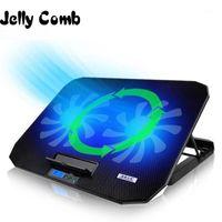 Pastiglie di raffreddamento per laptop Jelly pettine Cooler 2 porte USB e due stand a velocità regolabile per 12-15.6 pollici con display a LED1